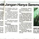 Pengenalan Batik, Jangan hanya Seremonial