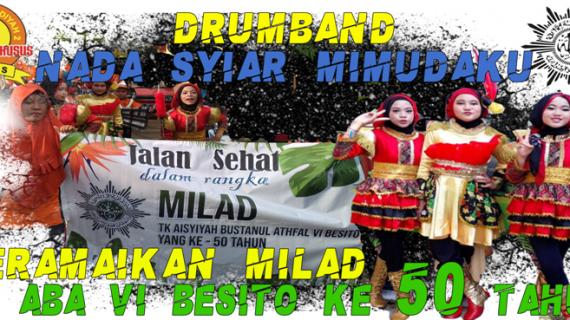 Drumband Nada Syiar Mimudaku Bekerja Sama dengan TK ABA VI Besito